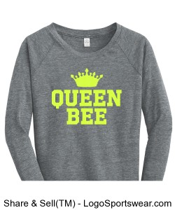 Queen Bee Ladies Sweatshirt Design Zoom
