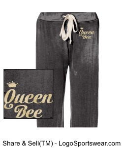 Queen Bee Ladies Fleece Pants Design Zoom