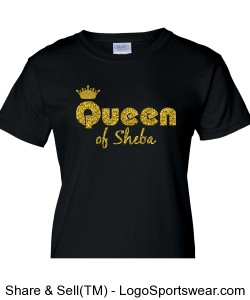 Queen of Sheba Ladies T-Shirt Design Zoom