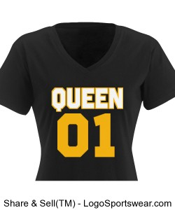 Queen 01 Ladies T-Shirt Dress Design Zoom
