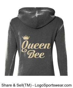 Queen Bee Ladies Fleece Hoodie Design Zoom
