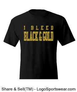 I Bleed Black and Gold Men's T-Shirt Design Zoom