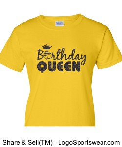 Birthday Queen Ladies T-Shirt Design Zoom