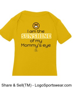 I am the Sunshine of my Mommy's eye Girls Creeper Design Zoom