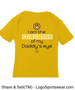 I am the Sunshine of my Daddy's eye Boys Creeper Design Zoom