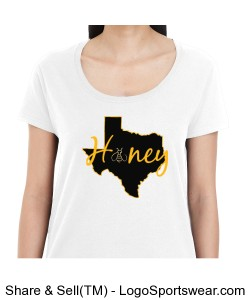 Texas Honey Ladies T-Shirt Design Zoom
