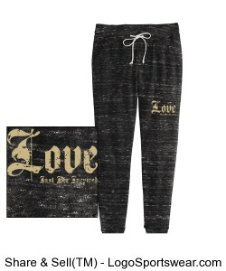 LOVE Just BEE Inspired Ladies Sweatpant Design Zoom