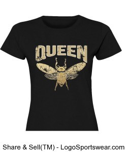Queen Bee Ladies T-Shirt Design Zoom