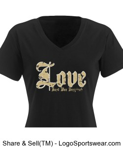 Love Just BEE Inspired Ladies T-Shirt Dress Design Zoom