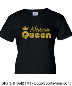 African Queen Ladies T-shirt Design Zoom