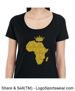 African Queen Ladies Scoop T-Shirt Design Zoom