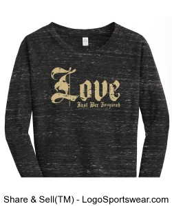 LOVE Just BEE Inspired Ladies Sweatshirt Design Zoom